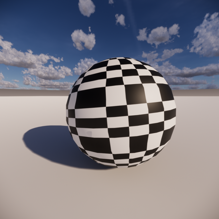 Albedo texture applied to a sphere