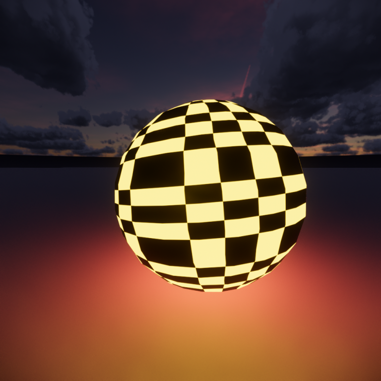 Checker texture applied to Self Illumination Color