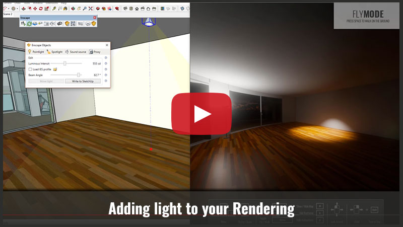 Adding light to your Rendering - SketchUp Essentials