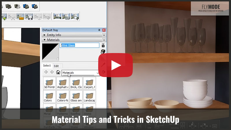 Material Tips and Tricks in SketchUp - Architecture Inspirations