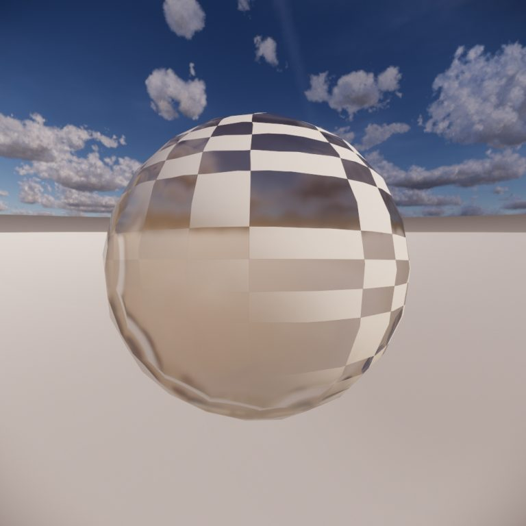 Transition from transparent sphere to one with transparency texture applied