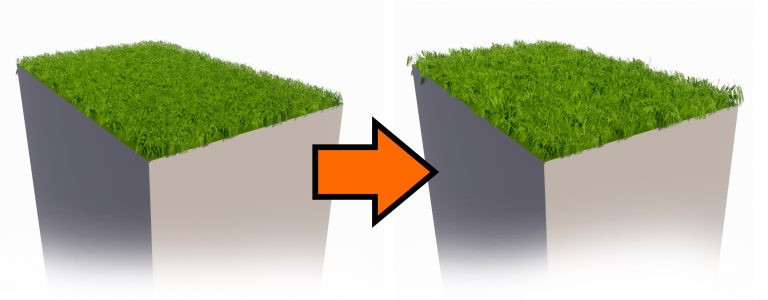 Randomizing the grass blades