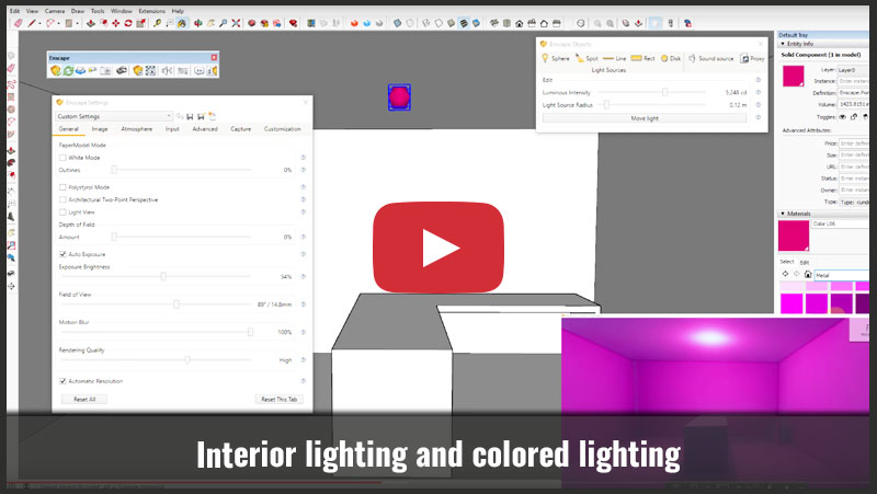 How to Setup Interior and Colored Lighting - Justin Geis