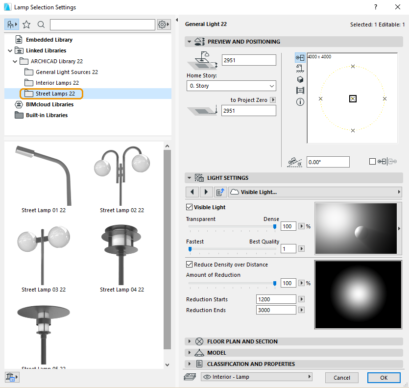 ArchiCAD's Street Lamps