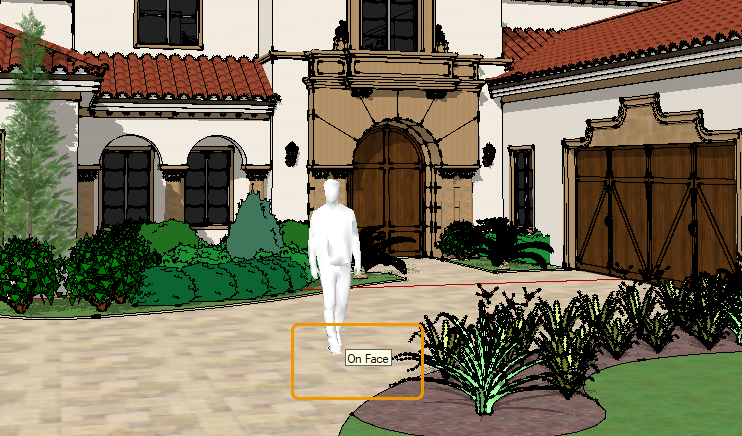 Asset placement as indicated in Sketchup