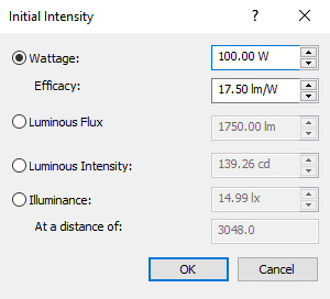 Initial Intensity window settings