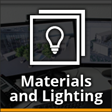 Materials and Lighting Icon