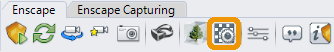 Location of the Enscape Materials button in the Enscape toolbar