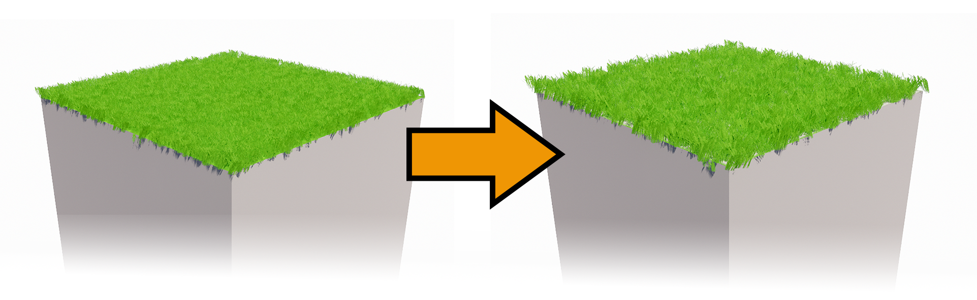 Changing the variation of the grass