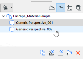 Select a View in ArchiCAD