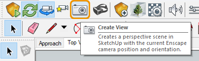The Create View button in SketchUp