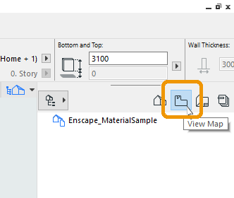 The Navigator View button in ArchiCAD