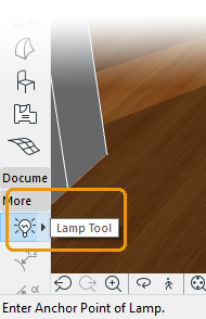 Lamp Tool button location