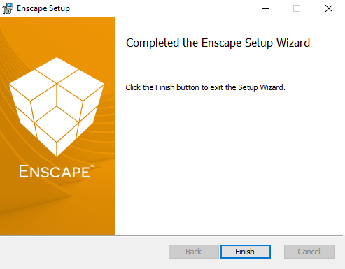 Enscape has finished installing