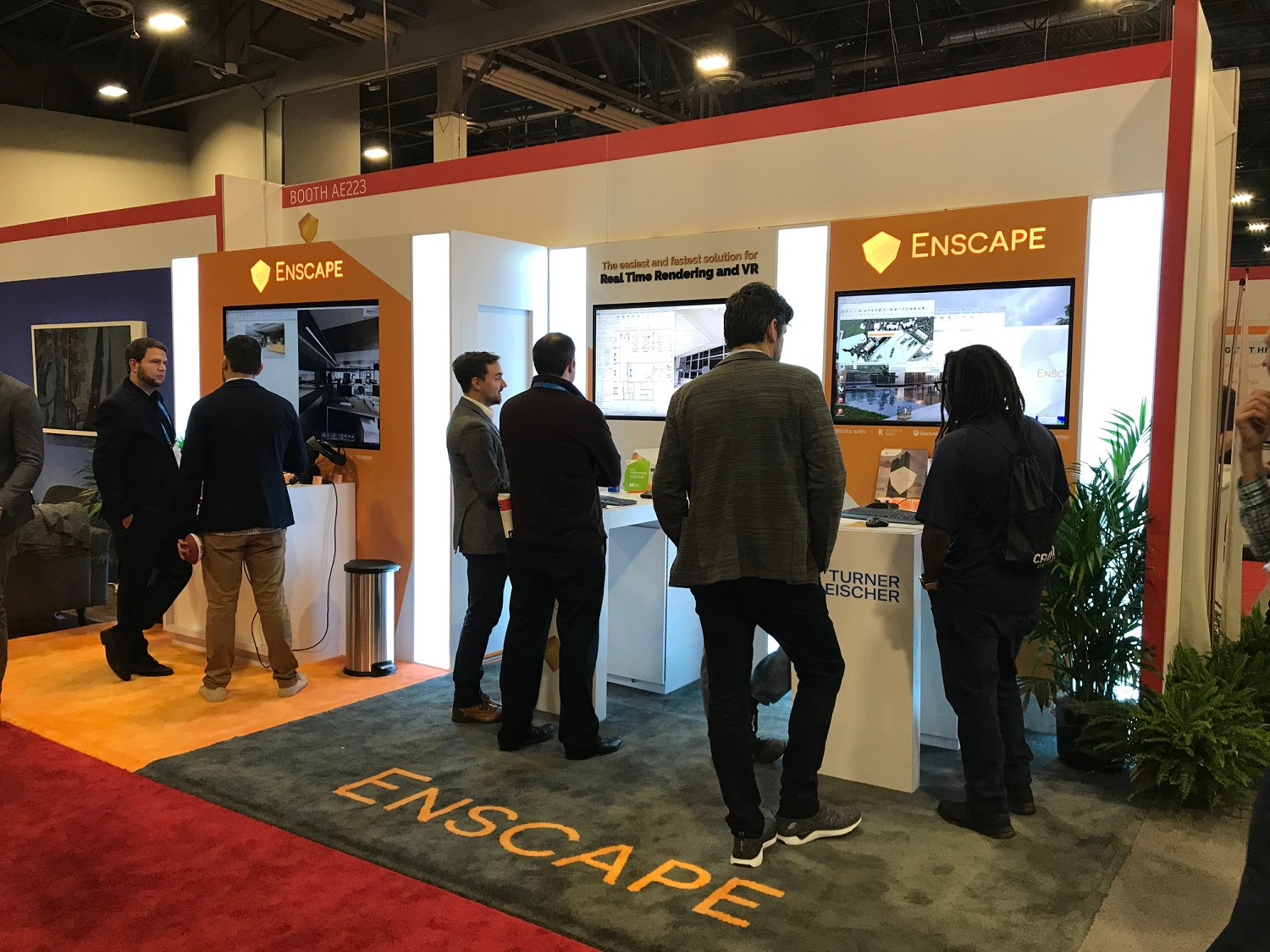 The Enscape Booth at Autodesk University 2019