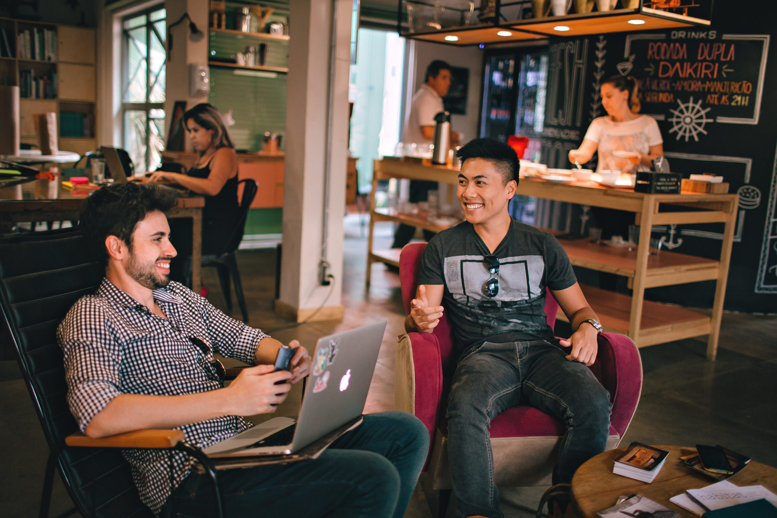 Co-working spaces are on the rise and are popular with start-ups