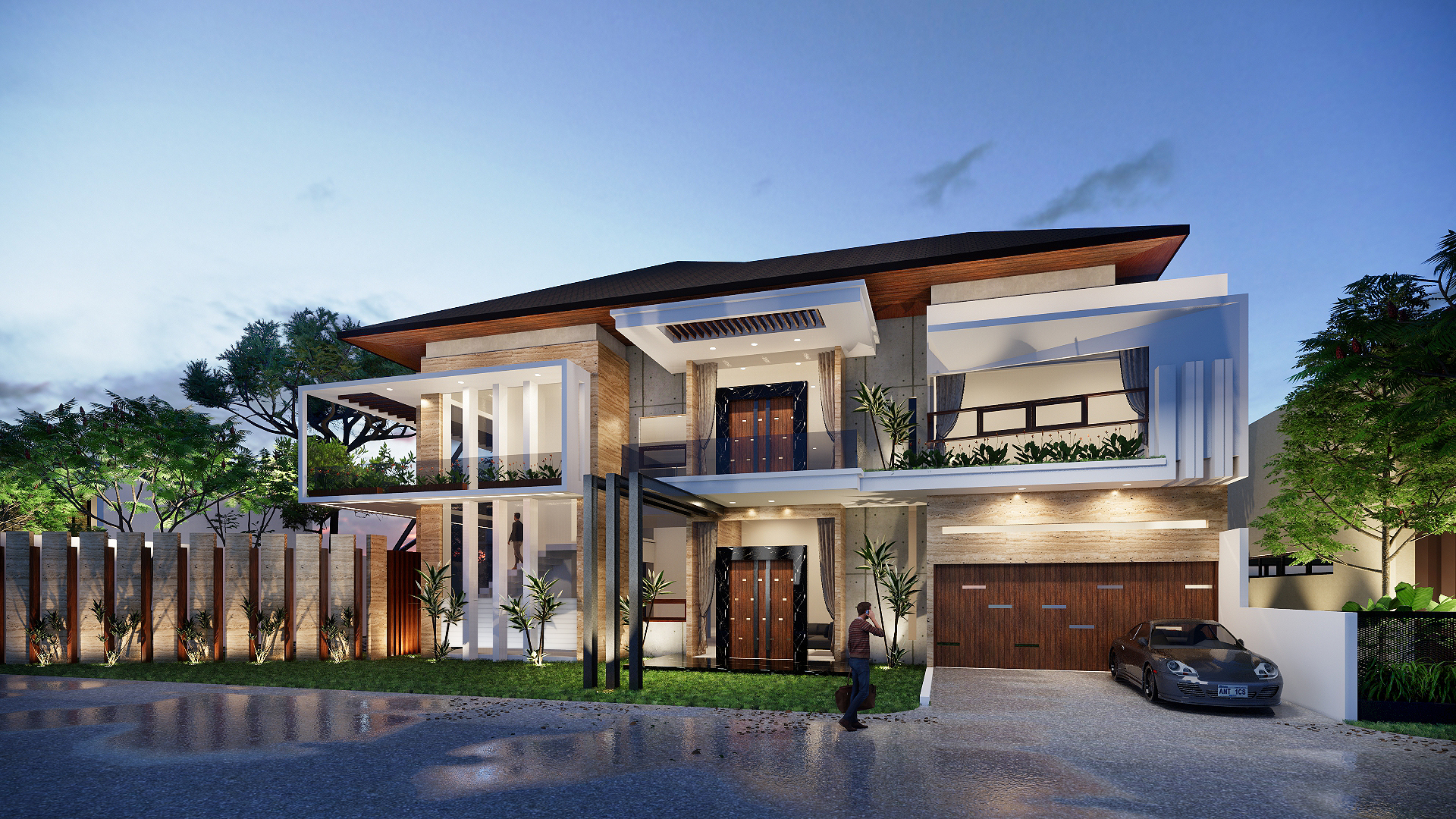 Private mansion design by Enscape user m4m3ts