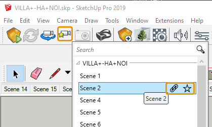 Manage Views list in SketchUp