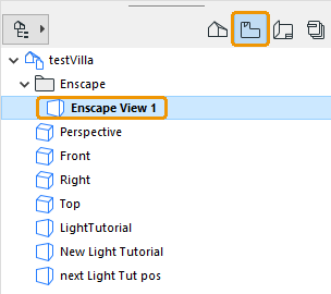 Named View listed in View Map dialog