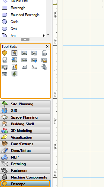 Location of Enscape Tool Set in Vectorworks