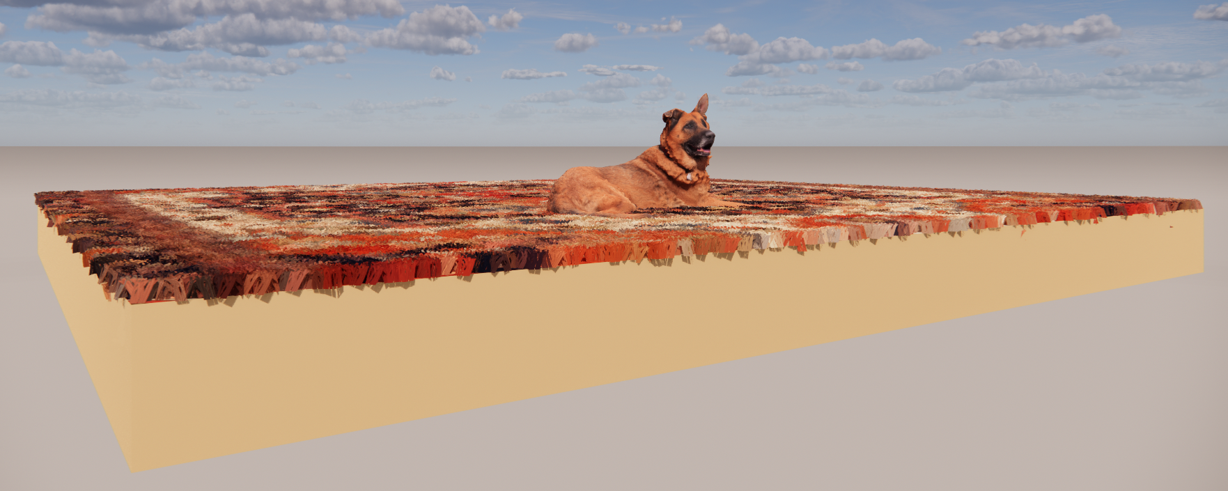 Carpet Material (with Dog Asset) in ArchiCAD Settings