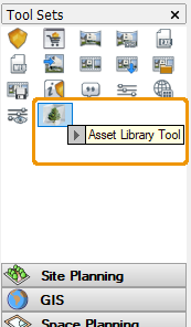 Location of Enscape Asset Library button in Vectorworks