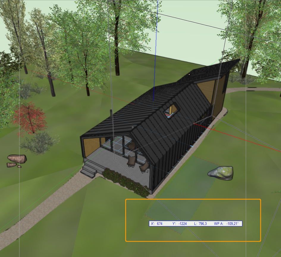 Asset Rotation in Vectorworks.