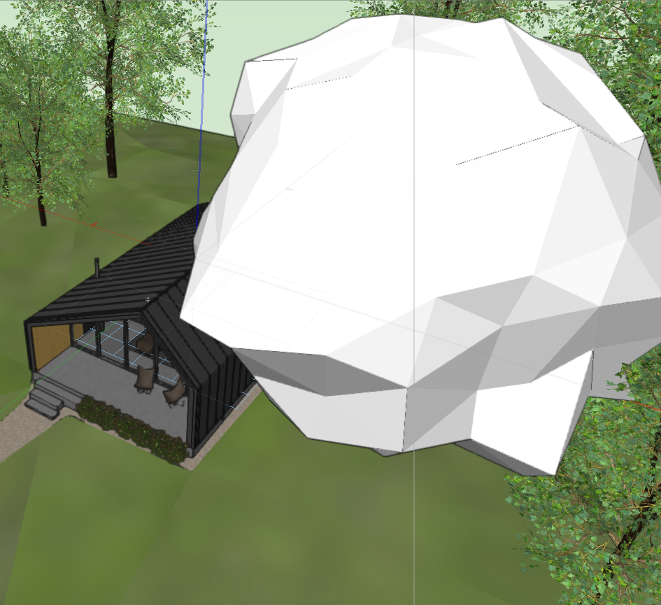 Asset placed and inactive in the Vectorworks' window