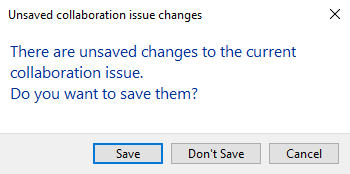 Confirm changes to Issue