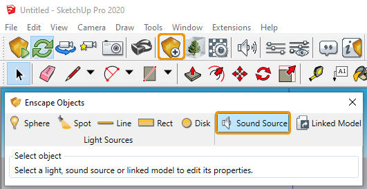 Sound Source option in Sketchup
