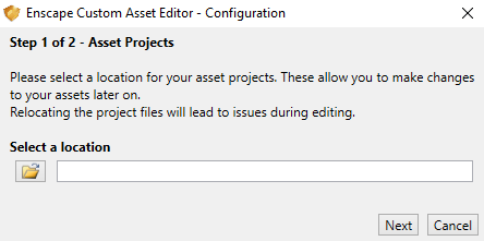 Define Asset Project location