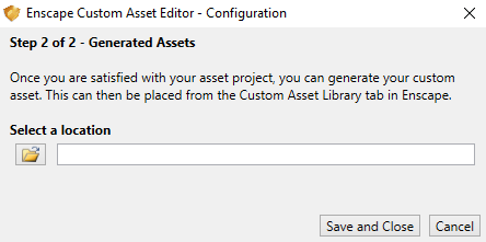Define Generated Asset location