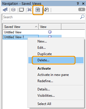 Delete a View in Vectorworks