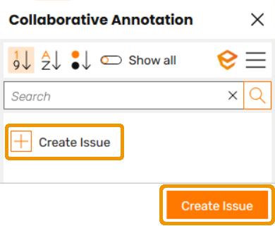 Create Issue buttons