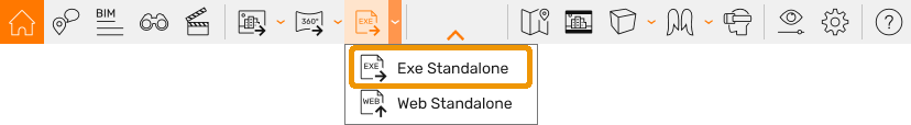 Standalone Export Button and drop down menu