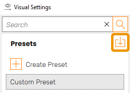 Import / Open Settings Presets button