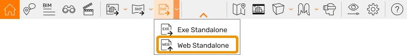 Export Web Standalone button