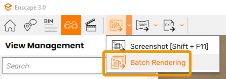 The Batch Rendering button