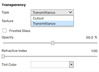 The Transparency slot