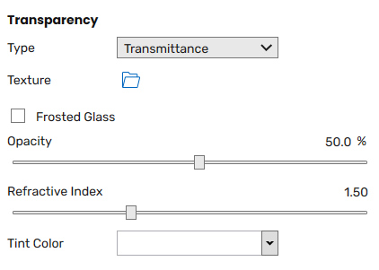 Transparency slot and associated options