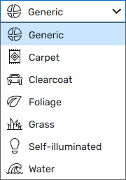 Material Types in the Material Editor