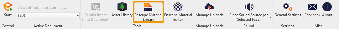 Material Library button in Revit